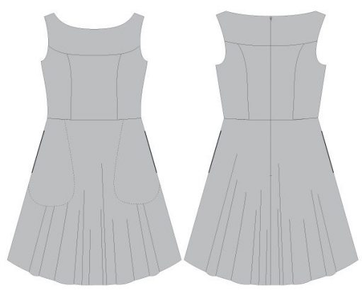 Free Marbella Dress Pattern Half-circle Skirt Add-on