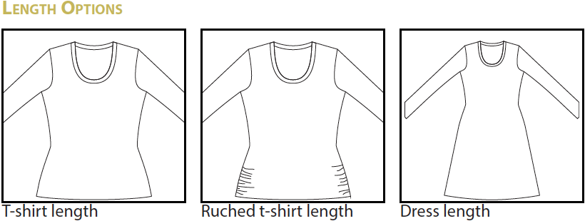 Idyllwild Top & Dress PDF Pattern Length Options
