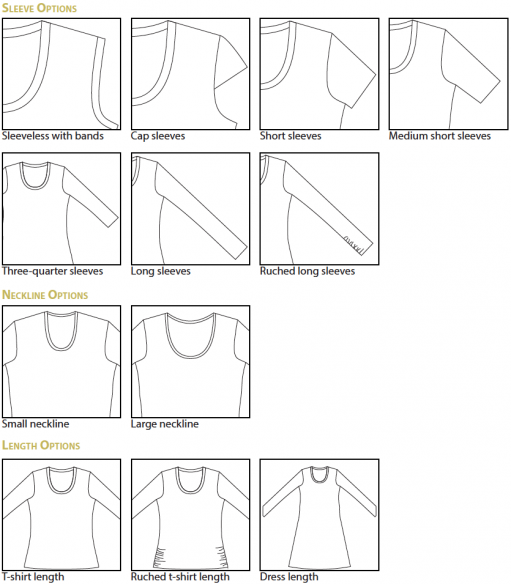 Idyllwild PDF Sewing Pattern Options