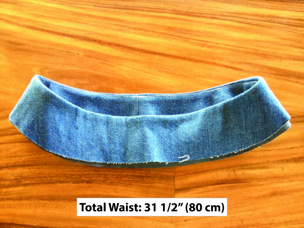 bias contour waist band experiment - denim