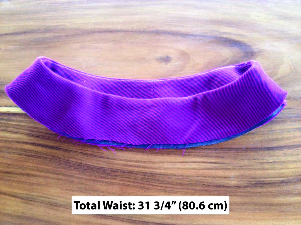bias contour waist band experiment - wool blend