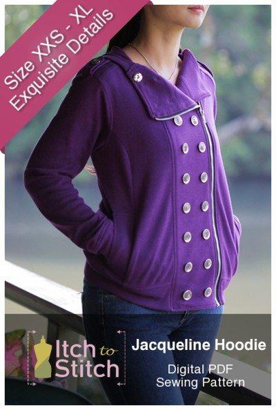 Jacqueline Hoodie PDF Sewing Pattern