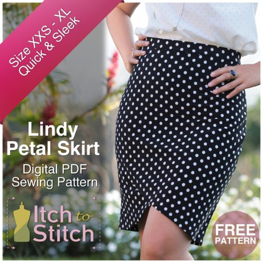 Itch To Stitch Digital Sewing Pattern Lindy Petal Skirt
