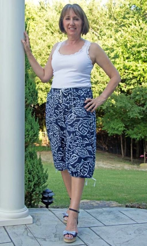 Angelia Shorts PDF Sewing Pattern - View C