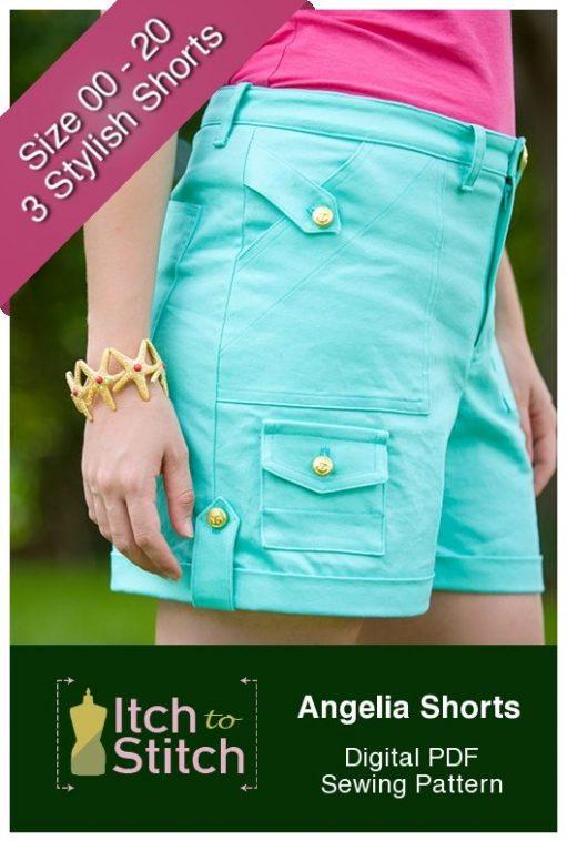 Angelia Shorts PDF Sewing Pattern