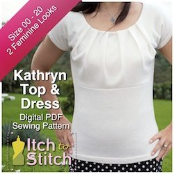 Kathryn Top & Dress PDF Sewing Pattern
