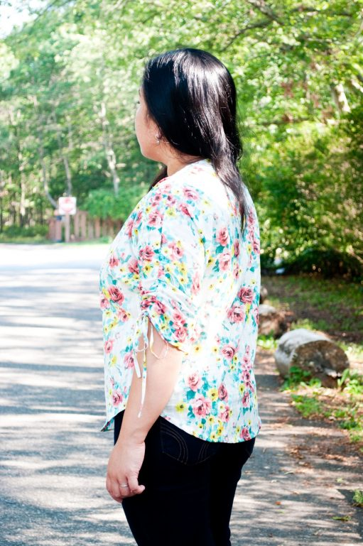 Ilyn in her Carey Top - PDF Sewing Pattern