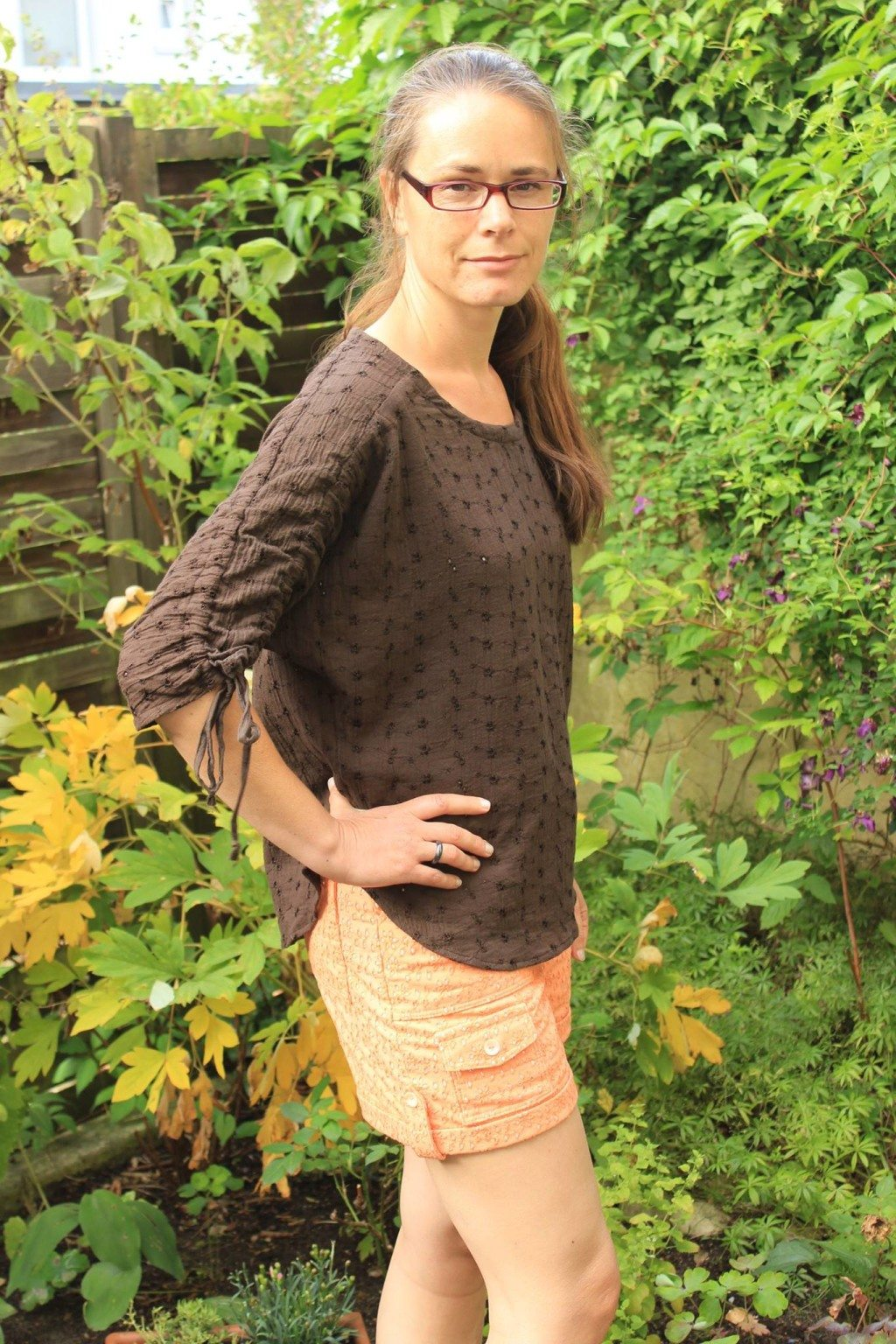 Angela in her Carey Top - PDF Sewing Pattern