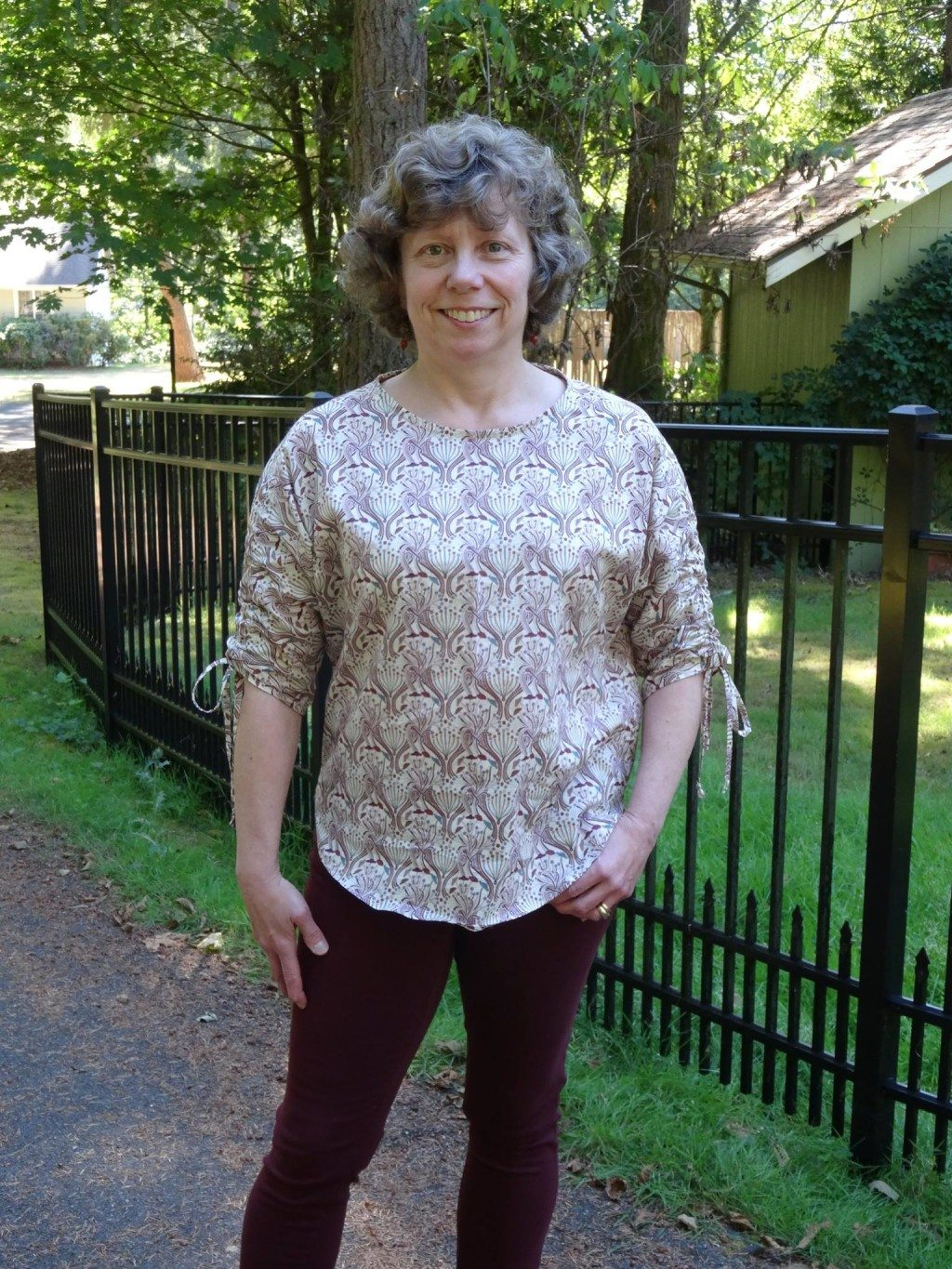 Lynn in her Carey Top - PDF Sewing Pattern