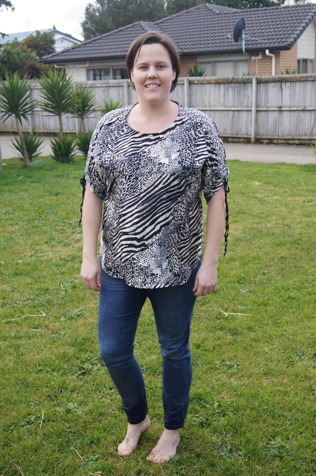 Caroline in her Carey Top - PDF Sewing Pattern