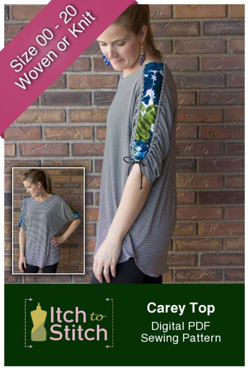Itch to Stitch Carey Top PDF Sewing Pattern
