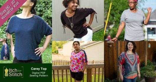 Carey Top PDF Sewing Pattern Released