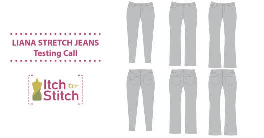 Itch to Stitch Liana Stretch Jeans Testing