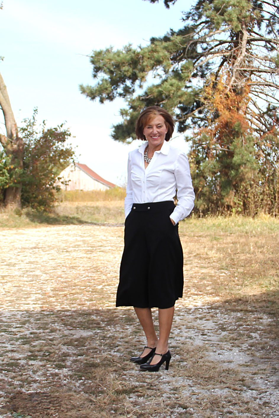 Itch to Stitch Birthday Tour - Lori's hacked Emily culottes