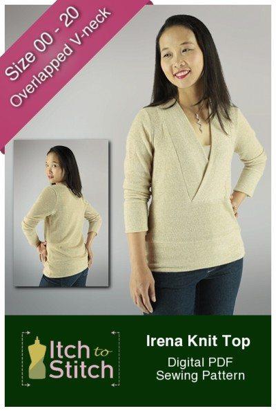 Irena Knit Top PDF Sewing Pattern