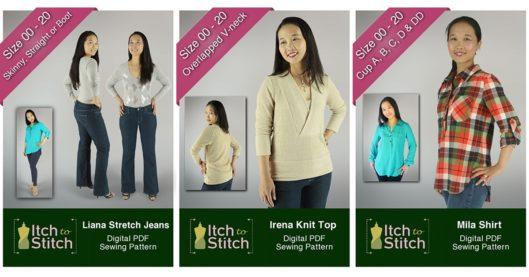 Pattern Releases + Sale: Liana Jeans, Irena Knit Top & Mila Shirt