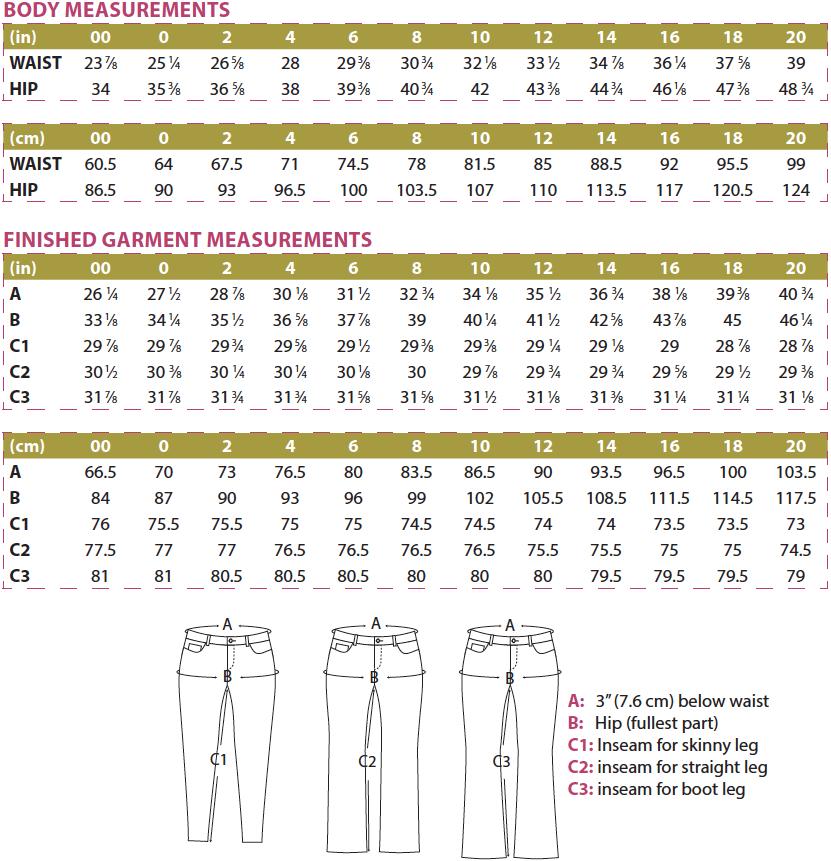 Davina Dress Body and Finished Garment Measurements