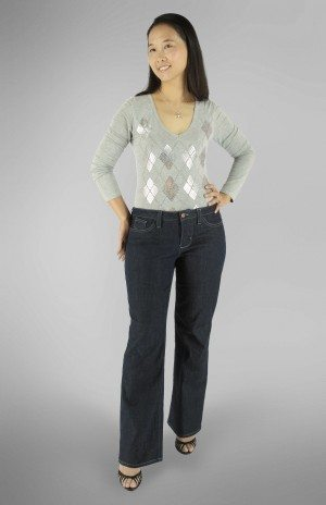 Liana Stretch Jeans PDF Sewing Pattern Straight Leg Option