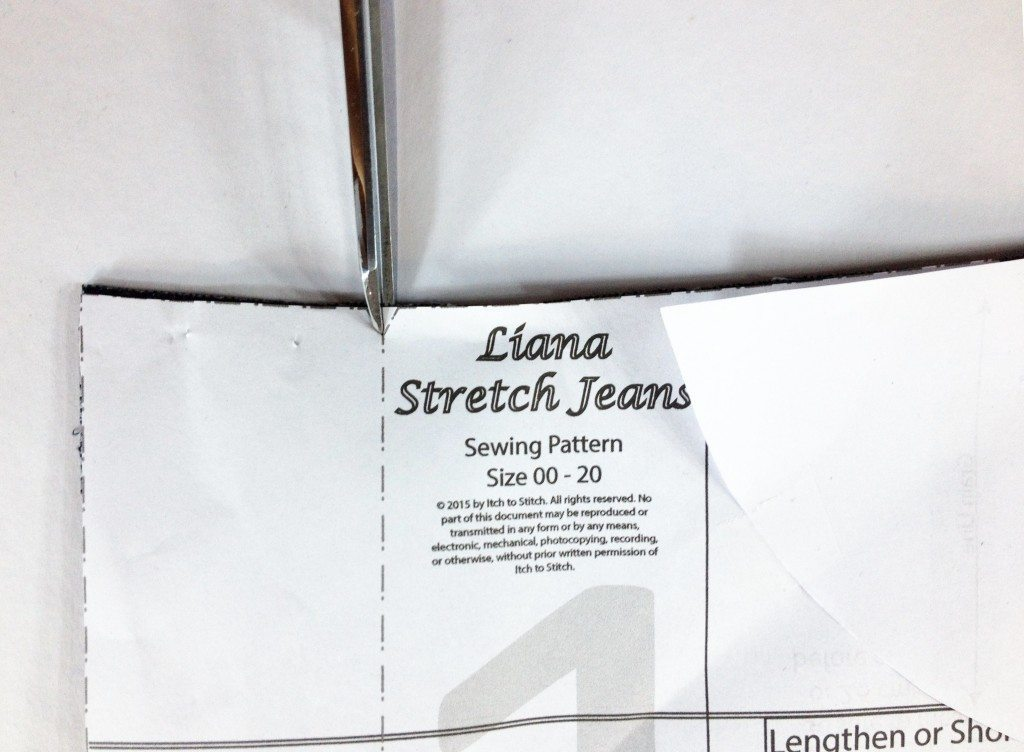 Liana Stretch Jeans Sewalong Day 3 Transfer markings