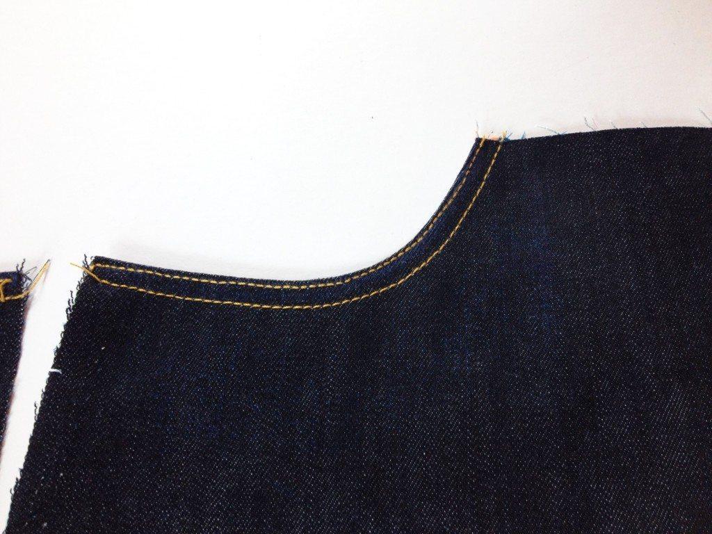 Liana Stretch Jeans Sewalong Day 6 Topstitch opening