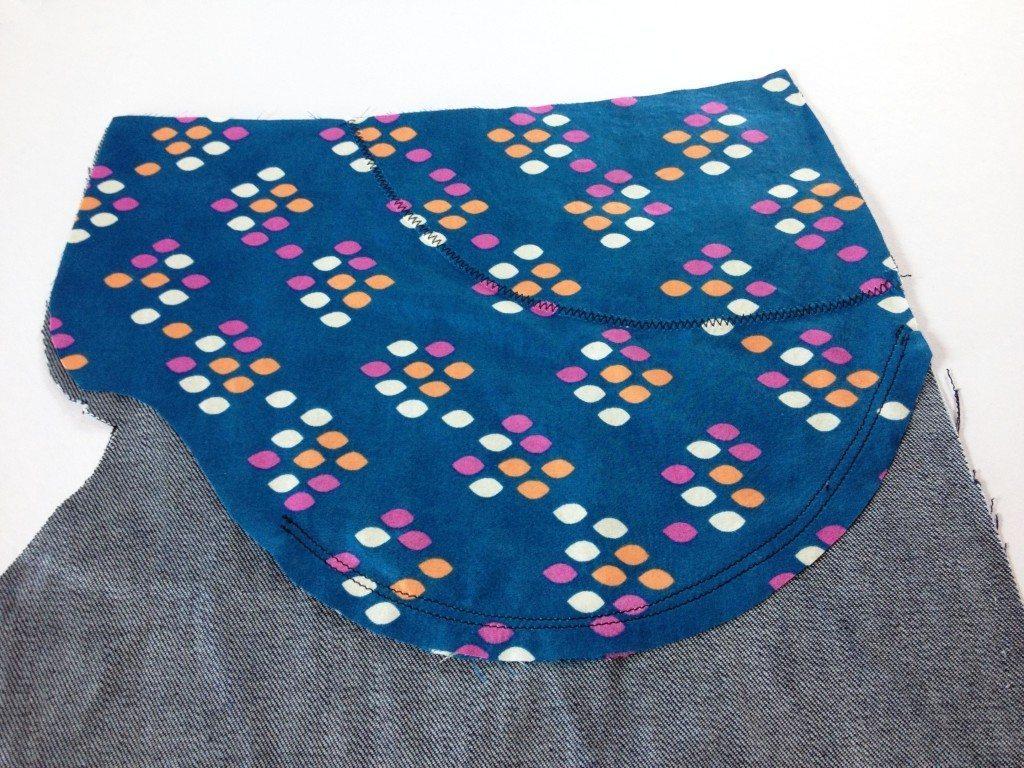 Liana Stretch Jeans Sewalong Day 7 Stitch double lines on pocket