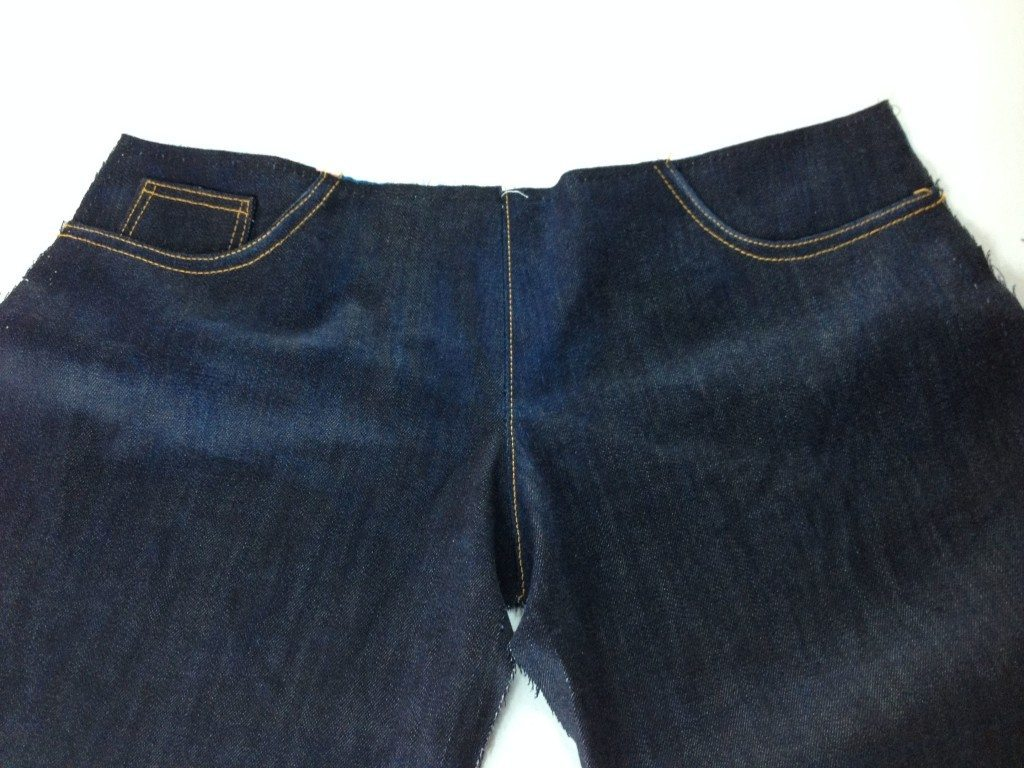 Liana Stretch Jeans Sewalong Day 8 topstitch