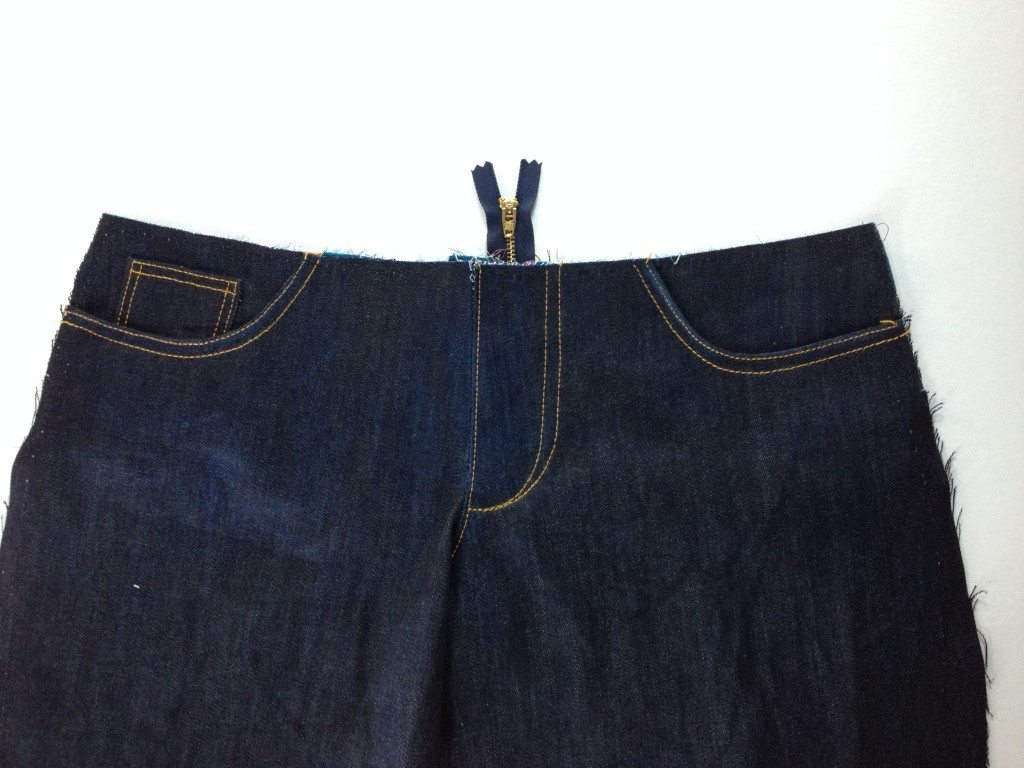 Liana Stretch Jeans Sewalong Day 8 Topstitched
