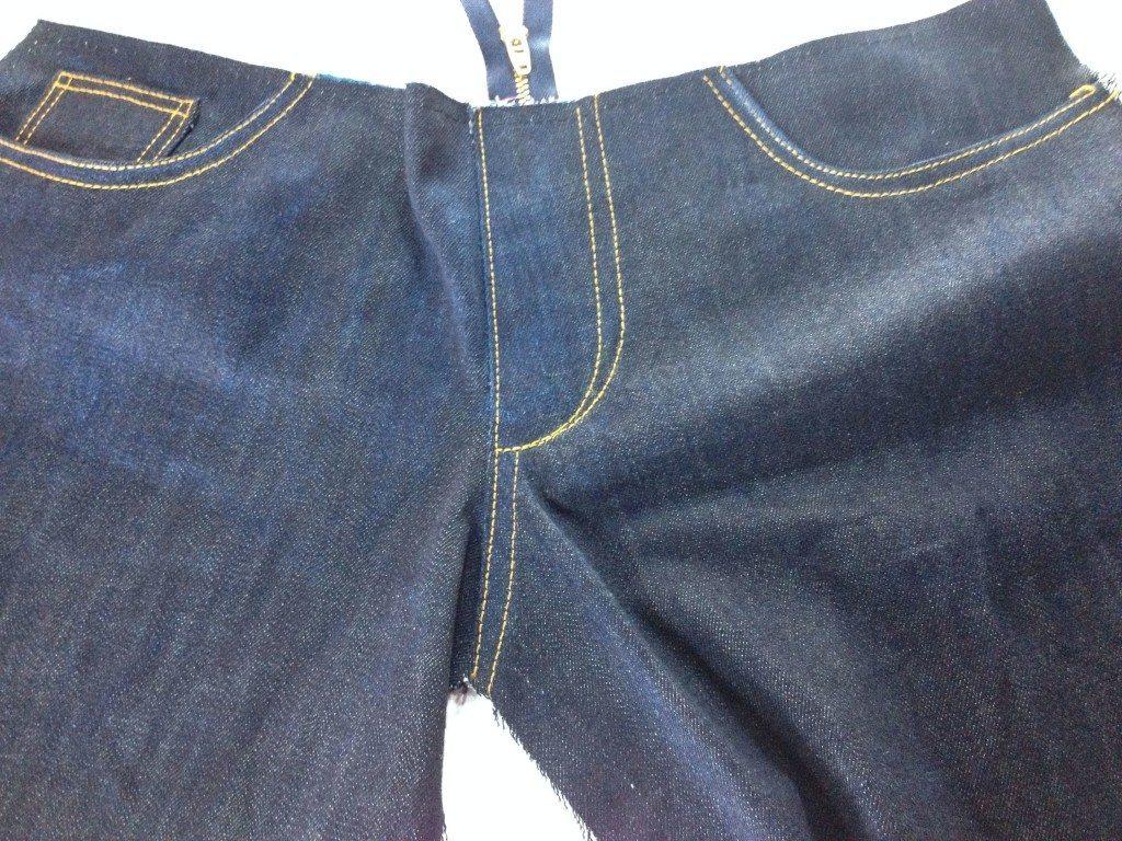 Liana Stretch Jeans Sewalong Day 8 Topstitched