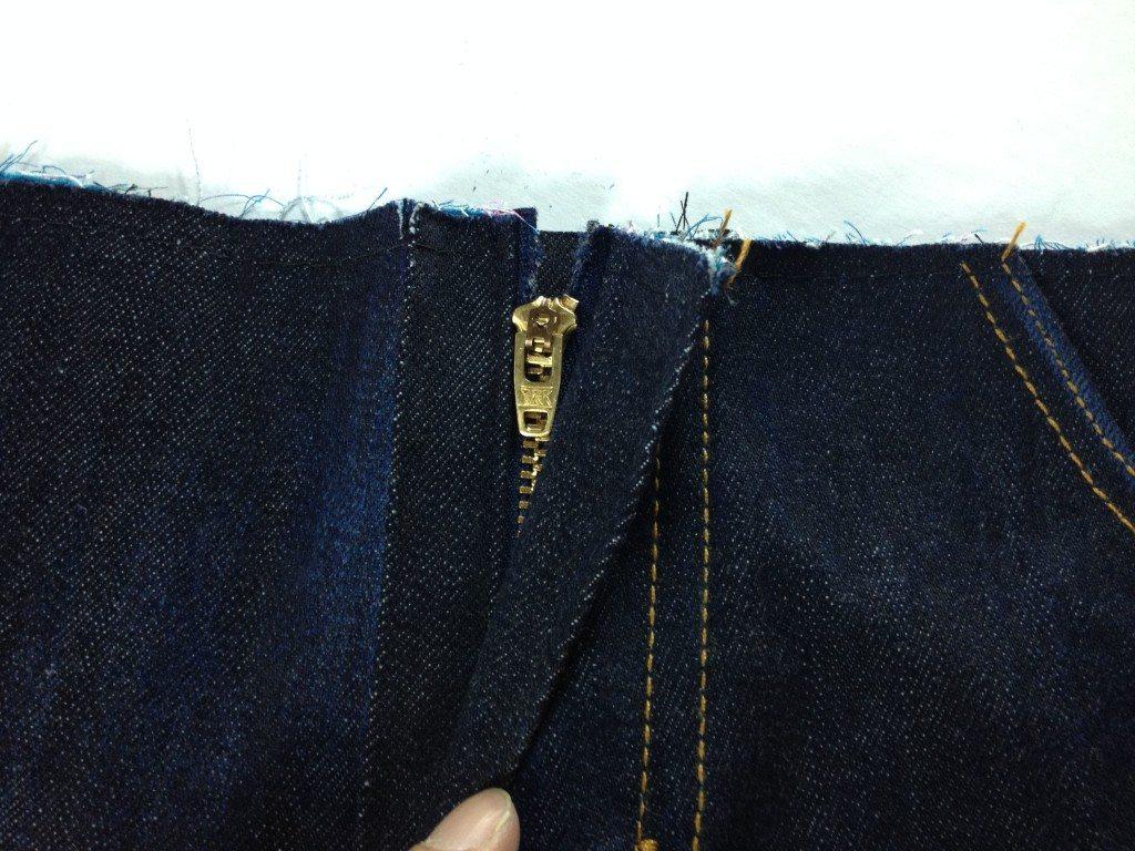 Zipper tape cut!