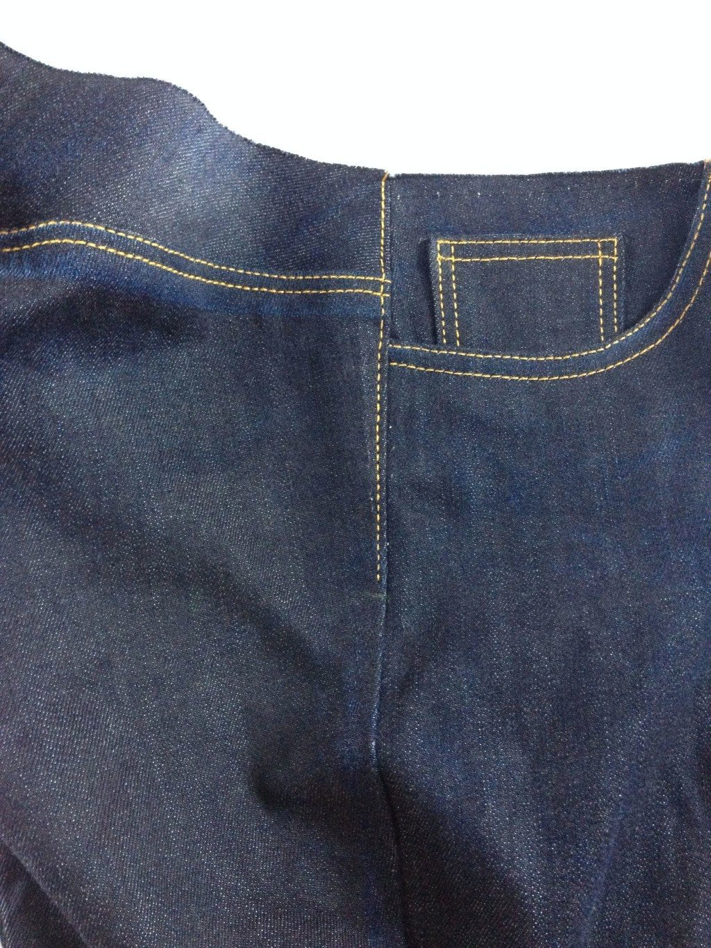 Liana Stretch Jeans Sewalong Day 9 topstitch side seam