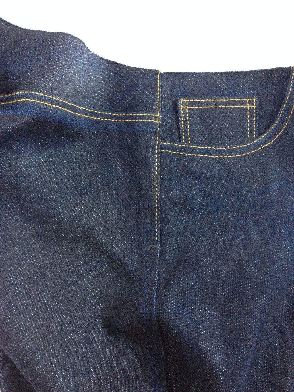 Liana Stretch Jeans Sewalong Day 9 topstitch side seam