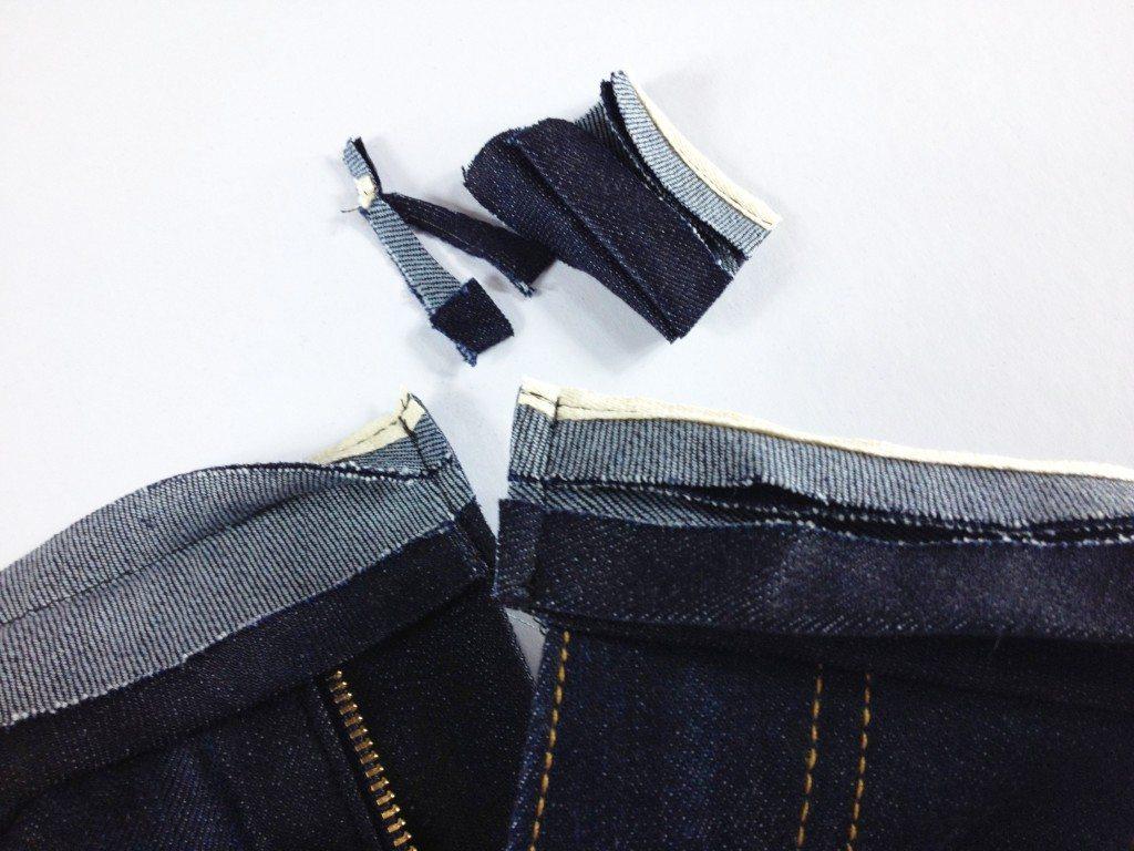 Liana Stretch Jeans Sewalong Day 9 Trim excess