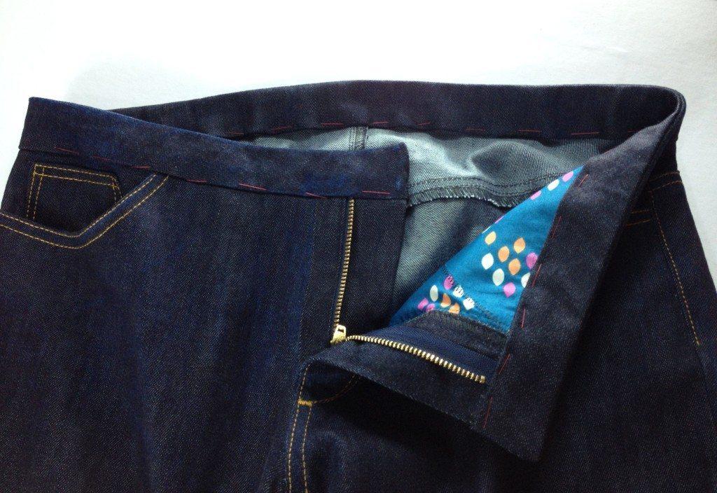 Liana Stretch Jeans Sewalong Day 9 Baste waistband
