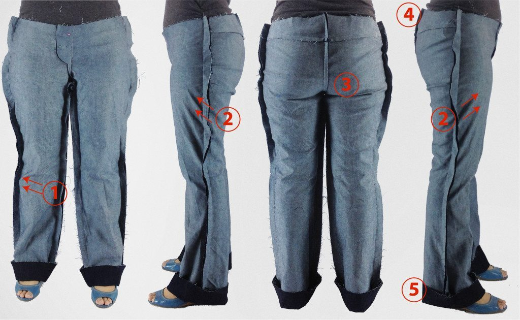 Liana Stretch Jeans Sewalong Day 4 Initial fit