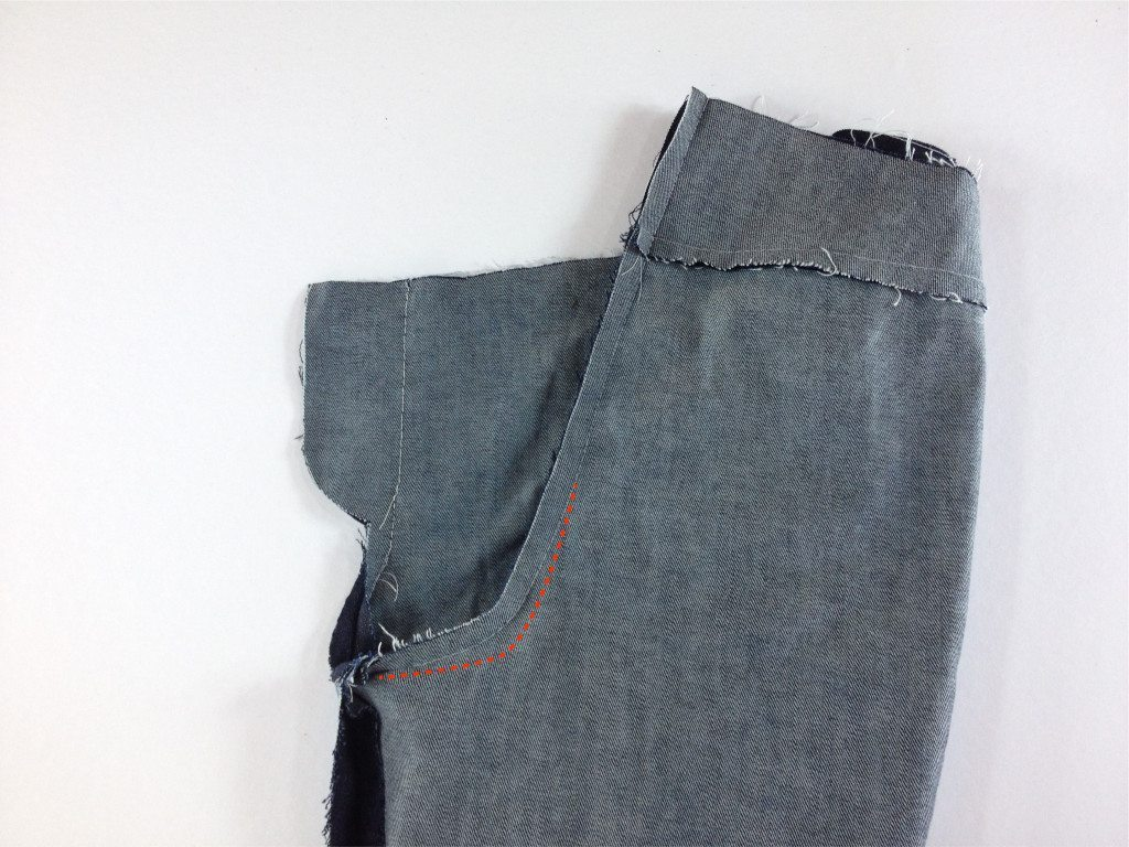 Liana Stretch Jeans Sewalong Day 5 Low seat adjustment on jeans
