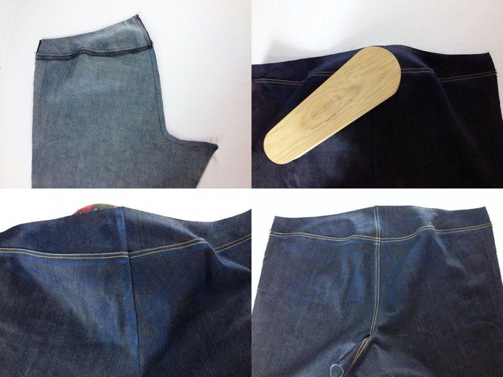 Liana Stretch Jeans Sewalong Day 6 Stitch Center Back Seam