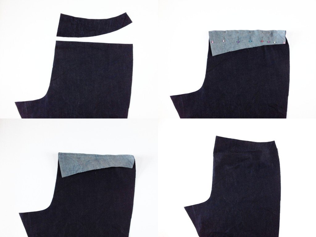 Liana Stretch Jeans Sewalong Day 4 Stitch back yoke
