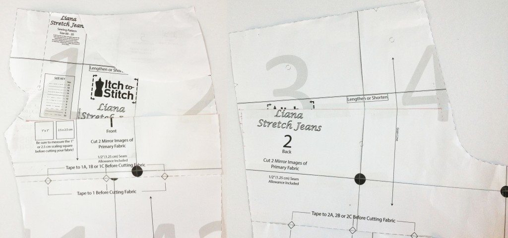 Liana Stretch Jeans Sewalong Day 5 Close Darts