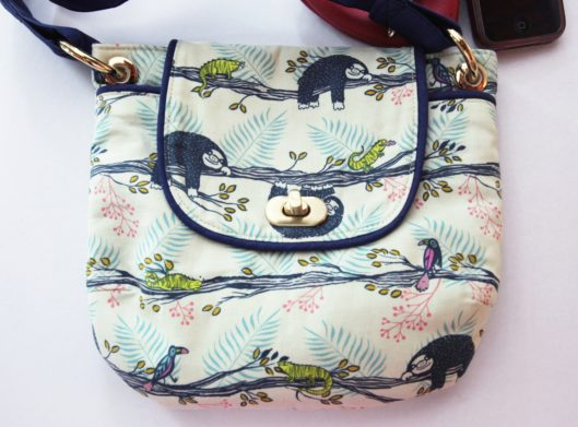 Gatherer Crossbody Bag by Noodle Head in Cotton + Steel Honeymoon Lazy Day Fabric