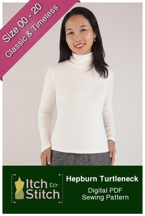Hepburn Turtleneck PDF Sewing Pattern Product Hero