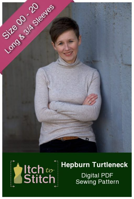 Hepburn Turtleneck PDF Sewing Pattern Product Hero2