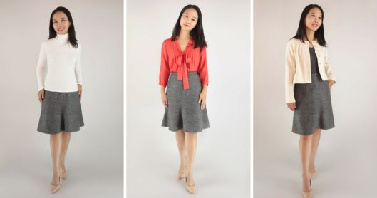 Zamora Blouse, Salamanca Cropped Jacket, Hepburn Turtleneck, Seville Skirt PDF Sewing Pattern Release
