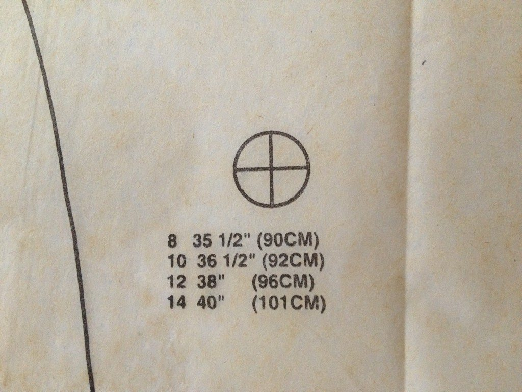 Apex marked on pattern