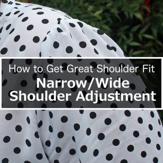 Great Shoulder Fit Narrow Wide Shoulder Adjustment