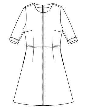 Itch to Stitch Sirena Dress PDF Sewing Pattern Sleeve Cuff Option - Front