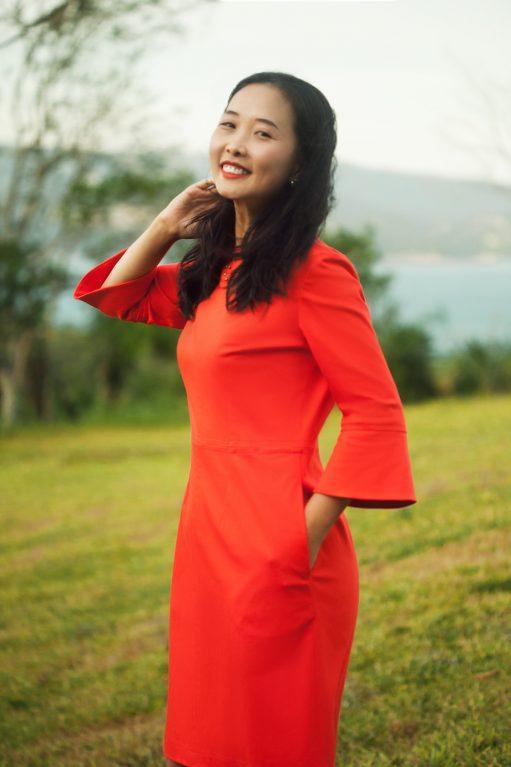 Itch to Stitch Sirena Dress PDF Sewing Pattern Sleeve Flounce Option - Side