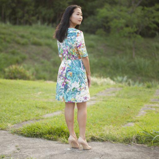 Itch to Stitch Sirena Dress PDF Sewing Pattern Sleeve Cuff Option - Back