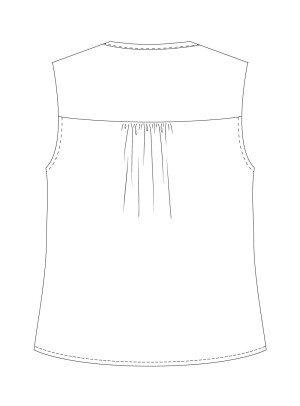 Itch to Stitch Vienna Tank PDF Sewing Pattern View B Back