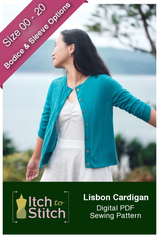 Itch to Stitch Lisbon Cardigan PDF Sewing Pattern