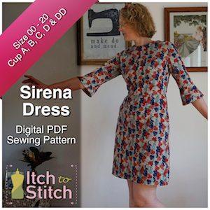 Itch to Stitch Sirena PDF Sewing Pattern 300 x 300